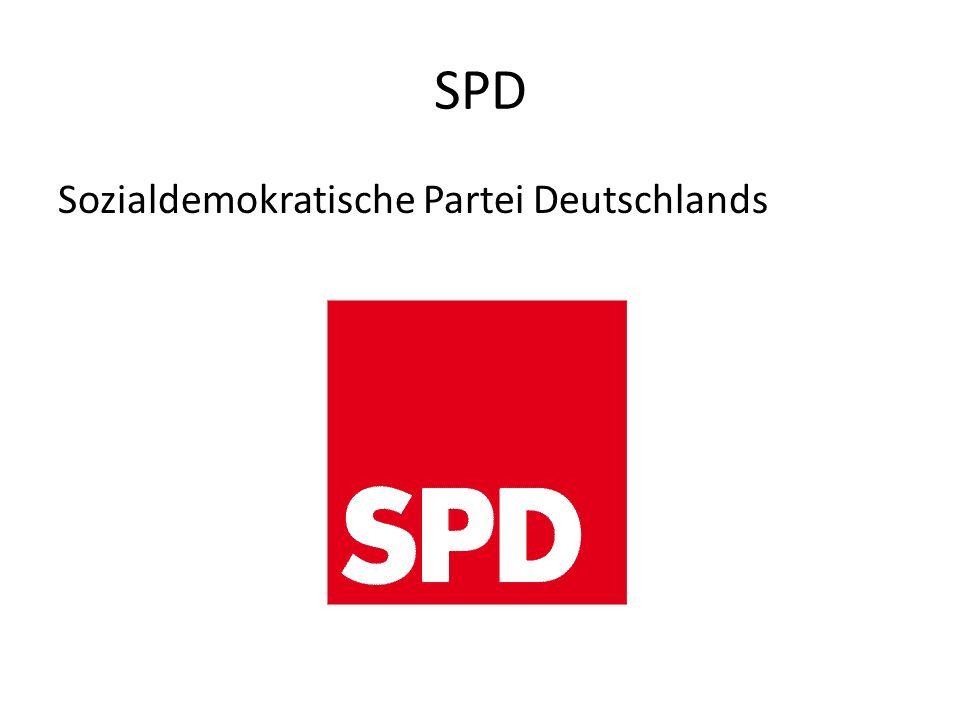 SPD Sozialdemokratische Partei Deutschlands