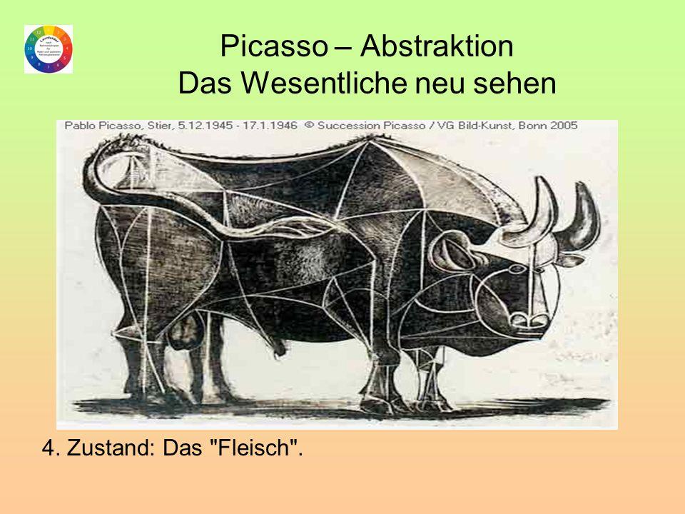 Picasso – Abstraktion Das Wesentliche neu sehen 4. Zustand: Das Fleisch .