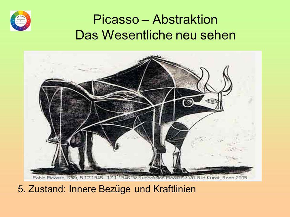 Picasso – Abstraktion Das Wesentliche neu sehen 5. Zustand: Innere Bezüge und Kraftlinien