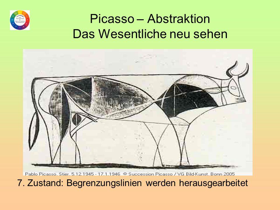 Picasso – Abstraktion Das Wesentliche neu sehen 7. Zustand: Begrenzungslinien werden herausgearbeitet