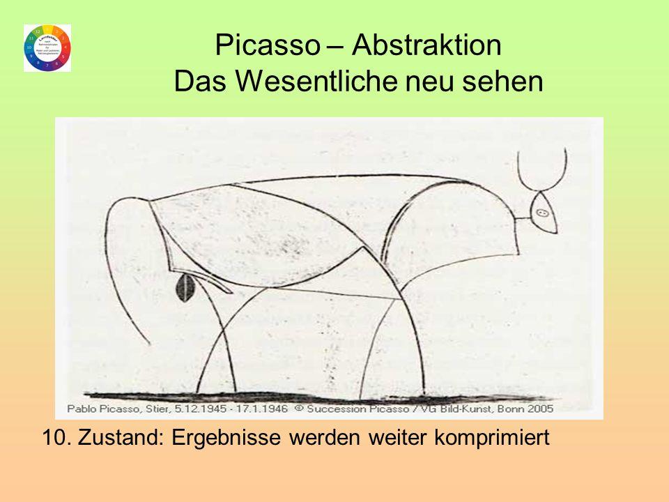 Picasso – Abstraktion Das Wesentliche neu sehen 10. Zustand: Ergebnisse werden weiter komprimiert