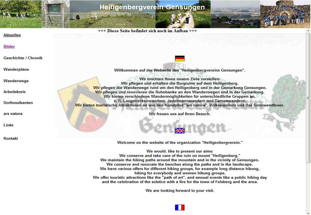 Bisherige Startseite Vereinswebsite Konrad Rennert5