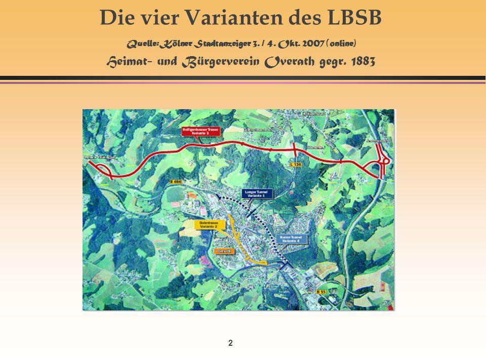 2 Die vier Varianten des LBSB Quelle: Kölner Stadtanzeiger 3.