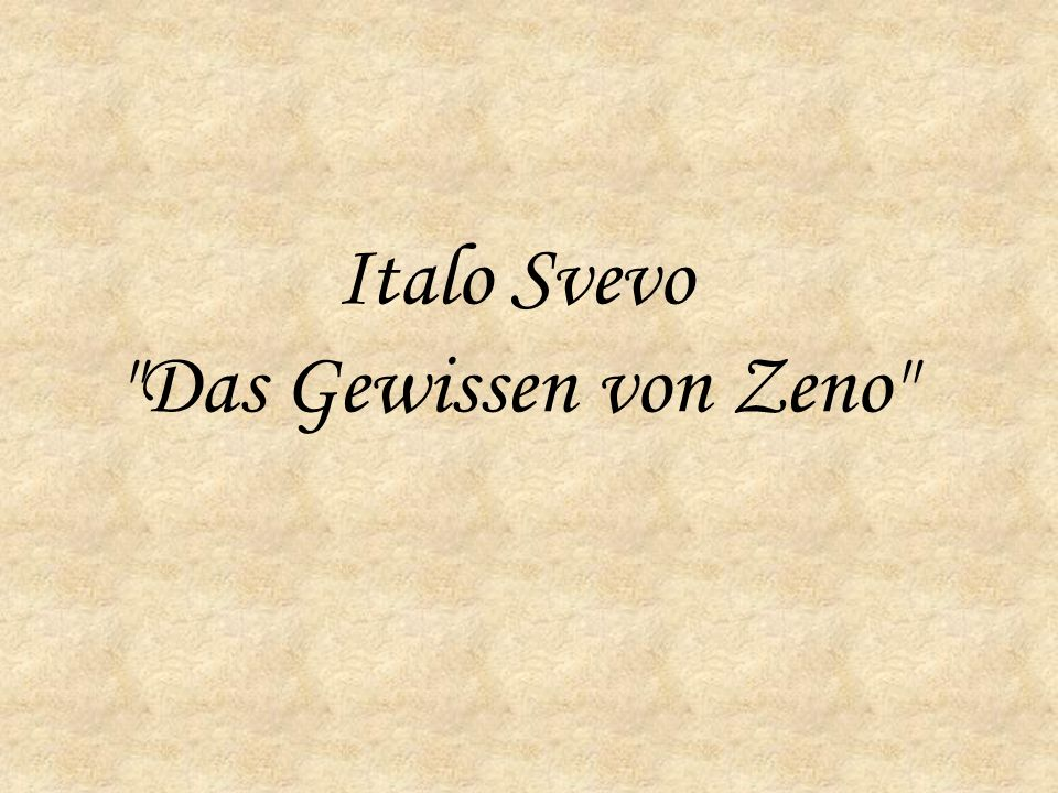 Italo Svevo Das Gewissen von Zeno