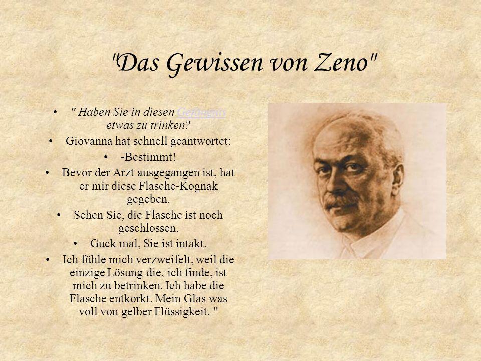 Das Gewissen von Zeno ist ein Roman von Italo Svevo der 1923 heraus gegeben wurde.