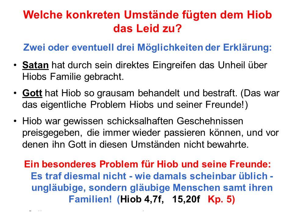 Seite 30 PP_M54.ppt Hiob – Folien Teil 2www.hopeandmore.at Die Klage Hiobs - eine Anklage Gottes.