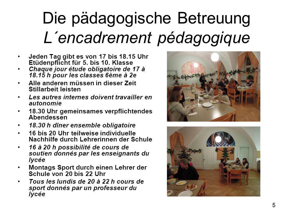 4 Die Finanzierung…Le financement 1/3 der Kosten übernehmen die Eltern, 1/3 die Stadt Freiburg und 1/3 das Land Baden- Württemberg 1/3 des coûts pris