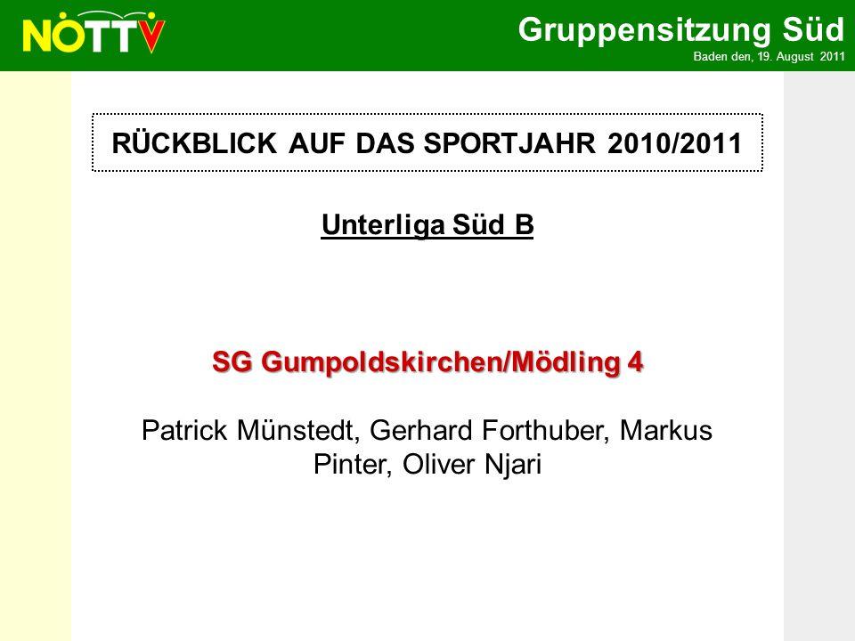 Gruppensitzung Süd Baden den, 19.