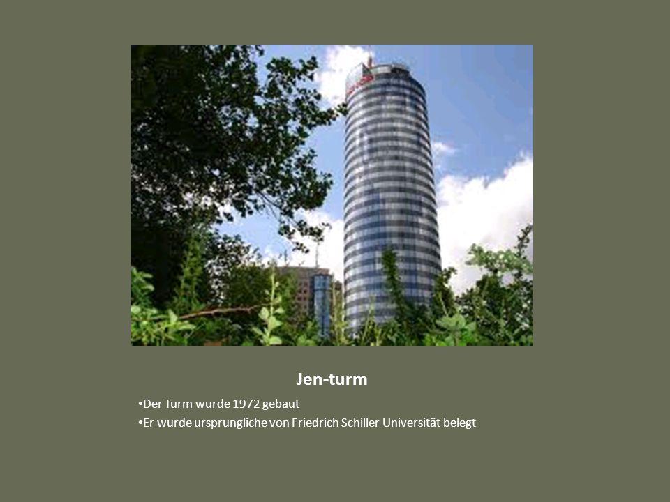 Jen-turm Der Turm wurde 1972 gebaut Er wurde ursprungliche von Friedrich Schiller Universität belegt