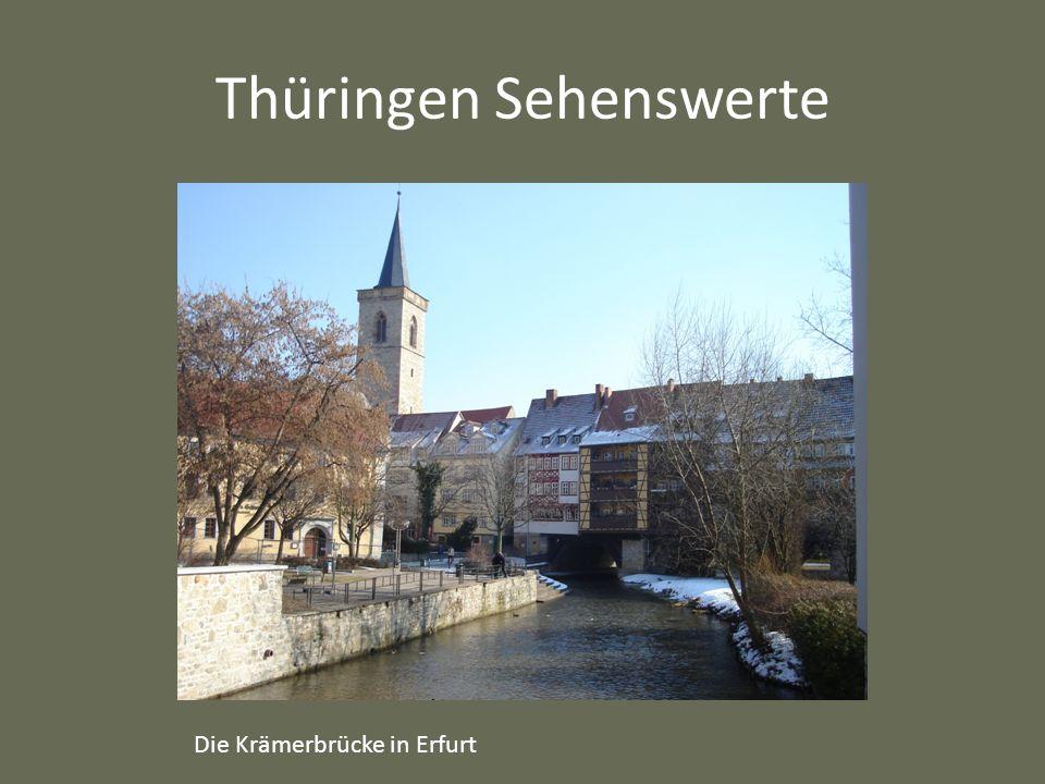 Thüringen Sehenswerte Die Krämerbrücke in Erfurt
