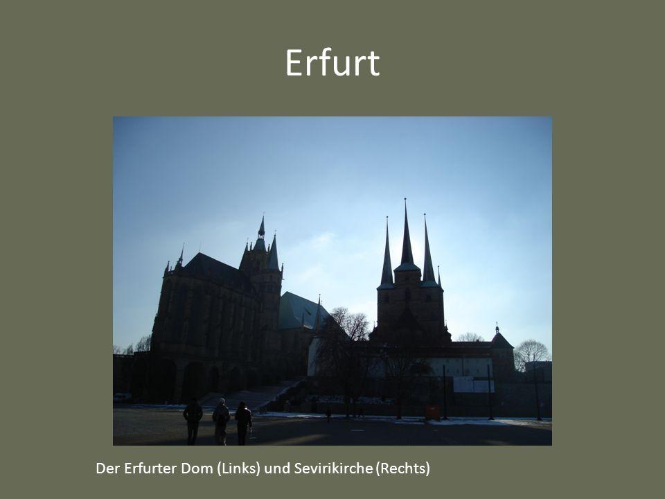 Erfurt Der Erfurter Dom (Links) und Sevirikirche (Rechts)