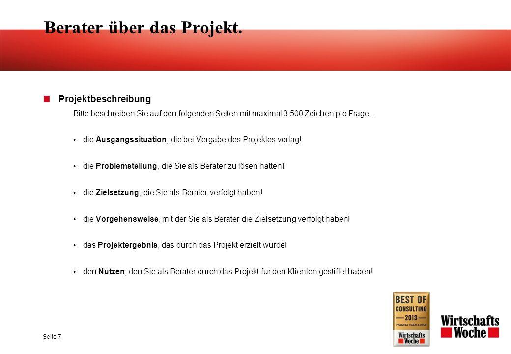 Seite 7 Berater über das Projekt.