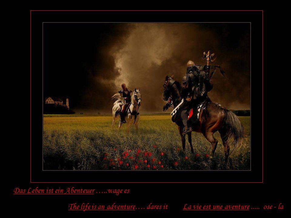 Das Leben ist ein Abenteuer …..wage es La vie est une aventure.....
