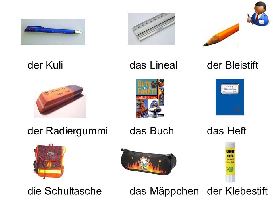 der Kulidas Linealder Bleistift der Radiergummidas Buchdas Heft die Schultaschedas Mäppchender Klebestift