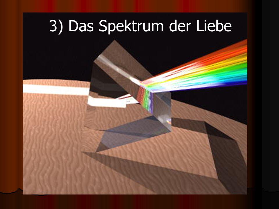 3) Das Spektrum der Liebe