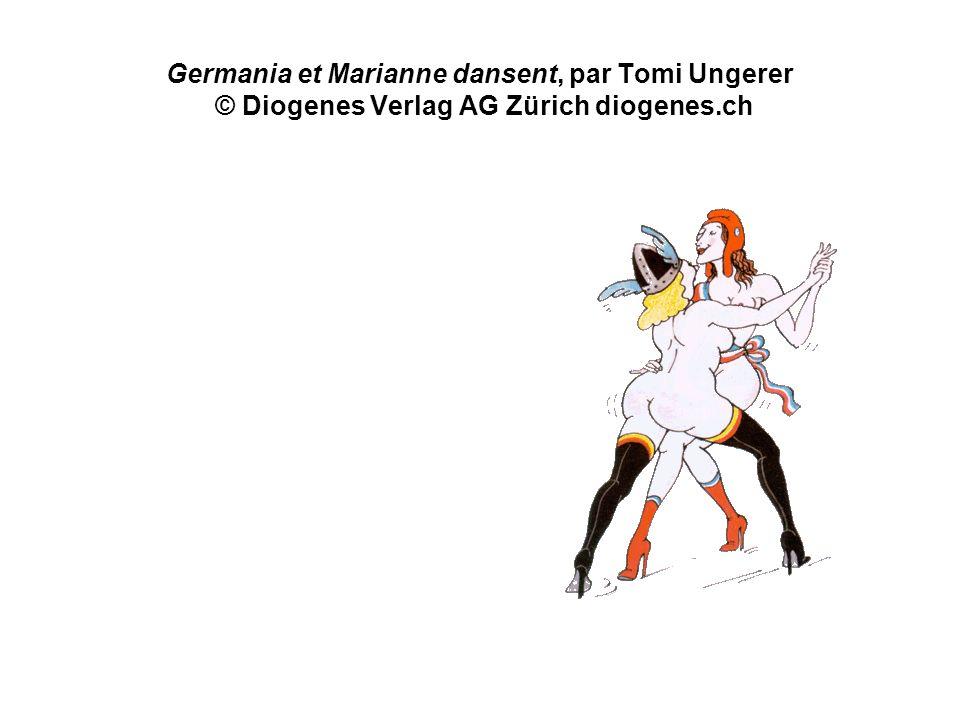 Germania et Marianne dansent, par Tomi Ungerer © Diogenes Verlag AG Zürich diogenes.ch