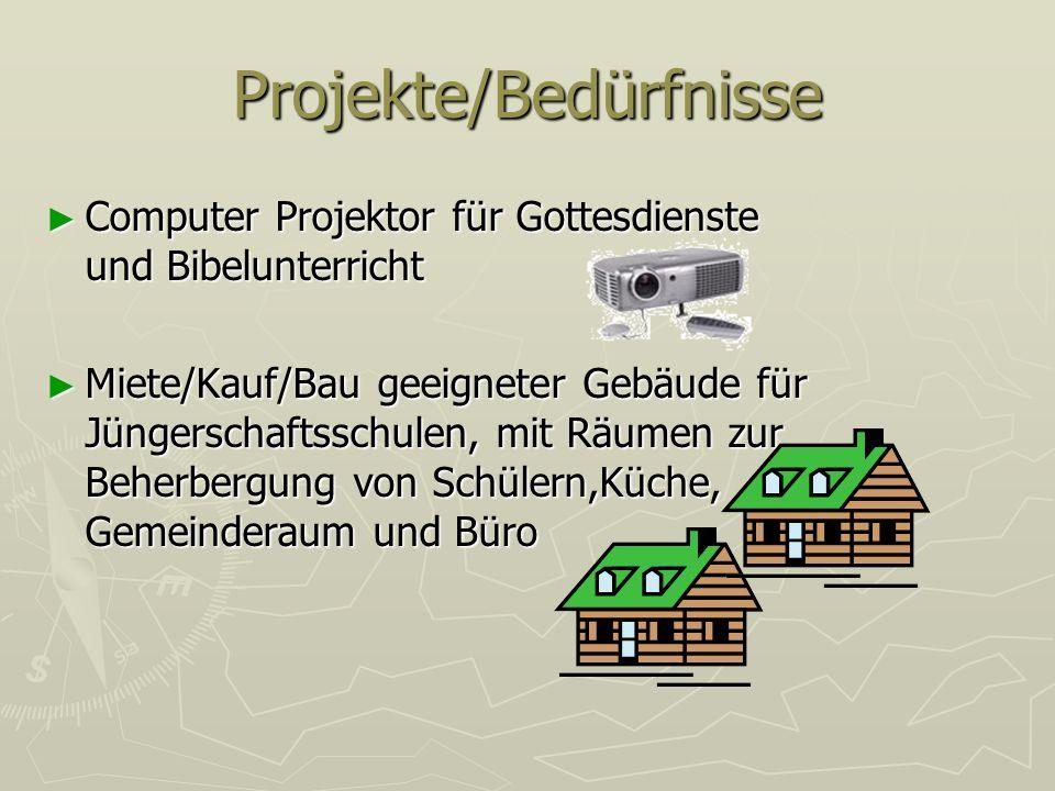 Projekte/Bedürfnisse Computer Projektor für Gottesdienste und Bibelunterricht Computer Projektor für Gottesdienste und Bibelunterricht Miete/Kauf/Bau