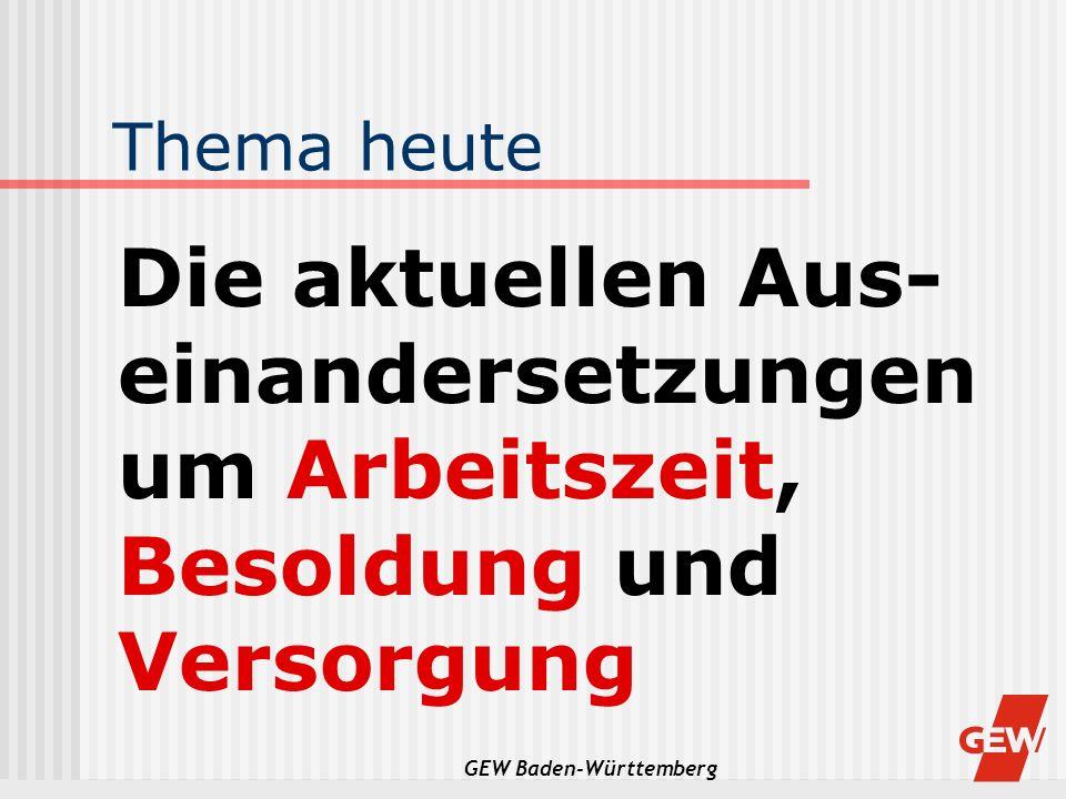 GEW Baden-Württemberg Kienbaum 1994 Der Vorteil einer höheren Alters- ermäßigung zeigt sich darin, dass die nordrhein-westfälischen Lehrer länger im Amt bleiben als z.B.