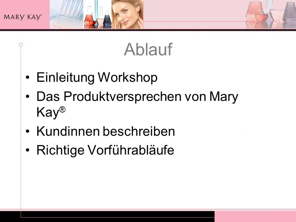 Vorstellung Teilnehmerinnen Name Wie lange bist Du schon selbständige Mary Kay ® Schönheits-Consultant.
