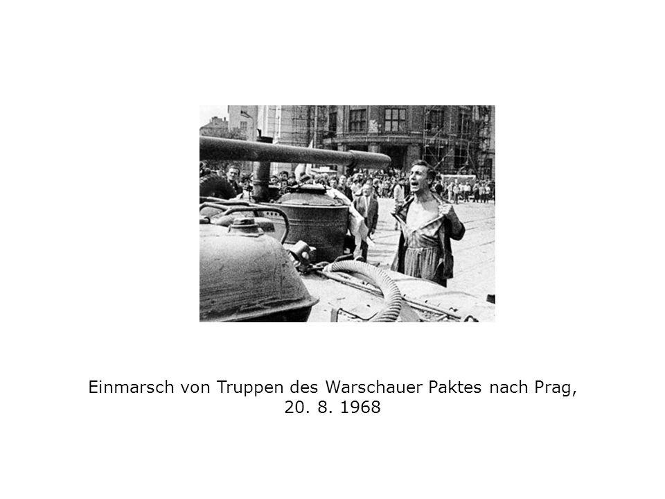 Einmarsch von Truppen des Warschauer Paktes nach Prag, 20. 8. 1968
