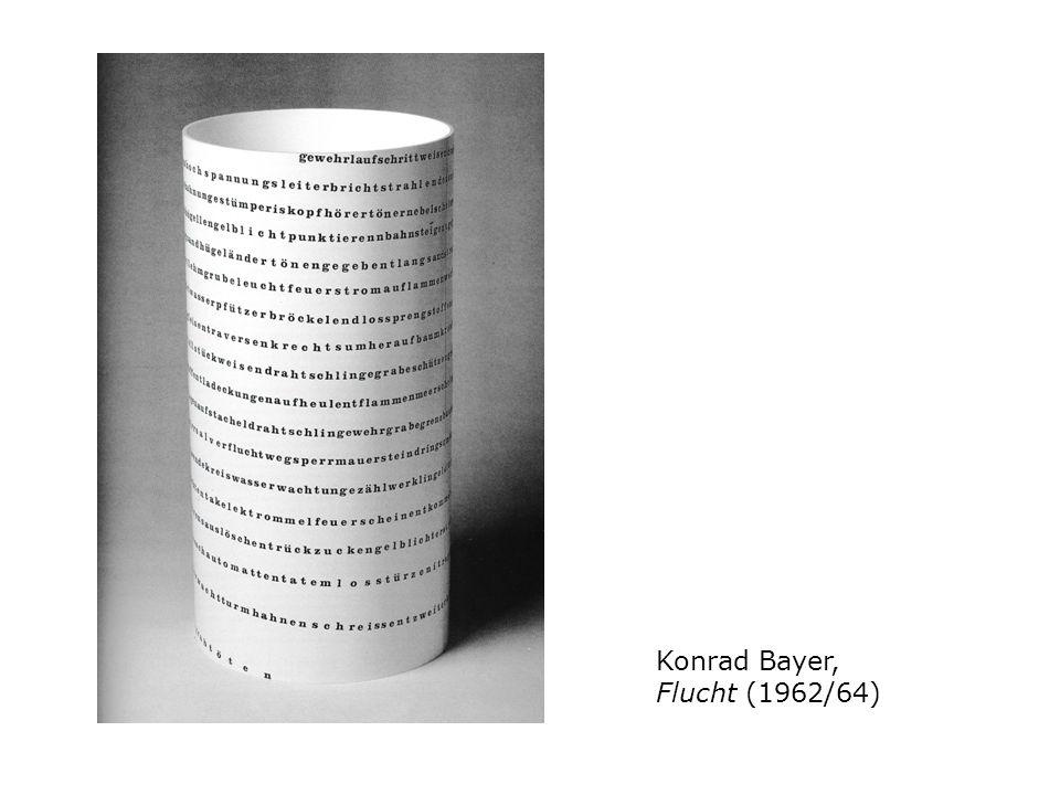 Konrad Bayer, Flucht (1962/64)