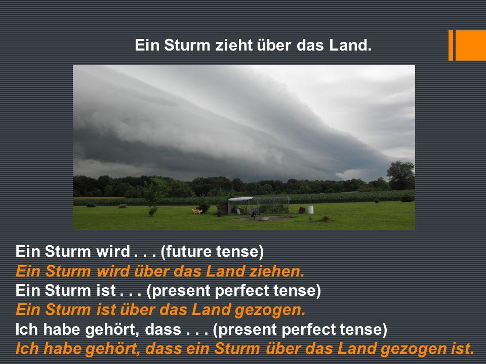 Ein Sturm zieht über das Land. Ein Sturm wird...