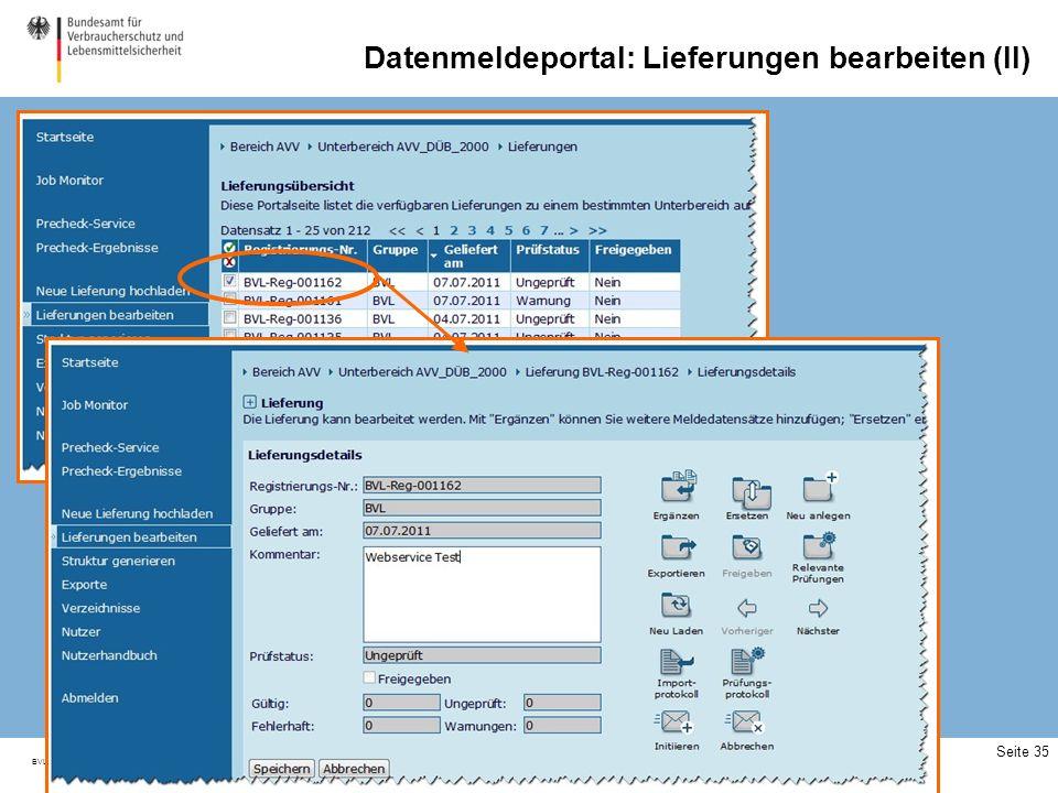 BVL_FO_04_0035_000 Seite 35 Datenmeldeportal: Lieferungen bearbeiten (II)