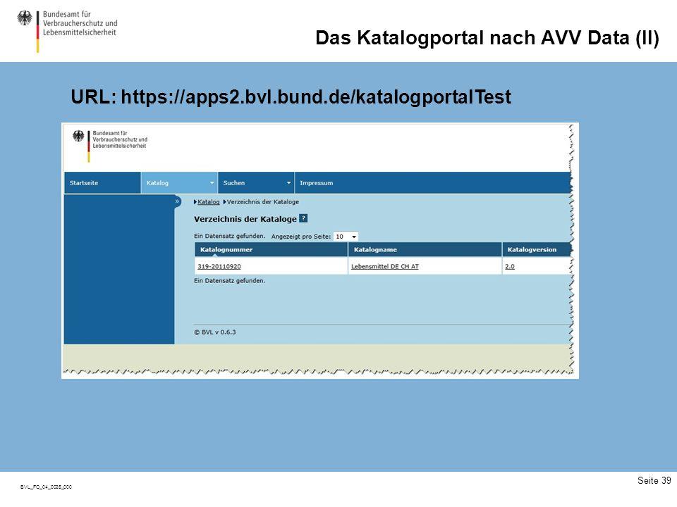 BVL_FO_04_0035_000 Das Katalogportal nach AVV Data (II) Seite 39 URL: https://apps2.bvl.bund.de/katalogportalTest