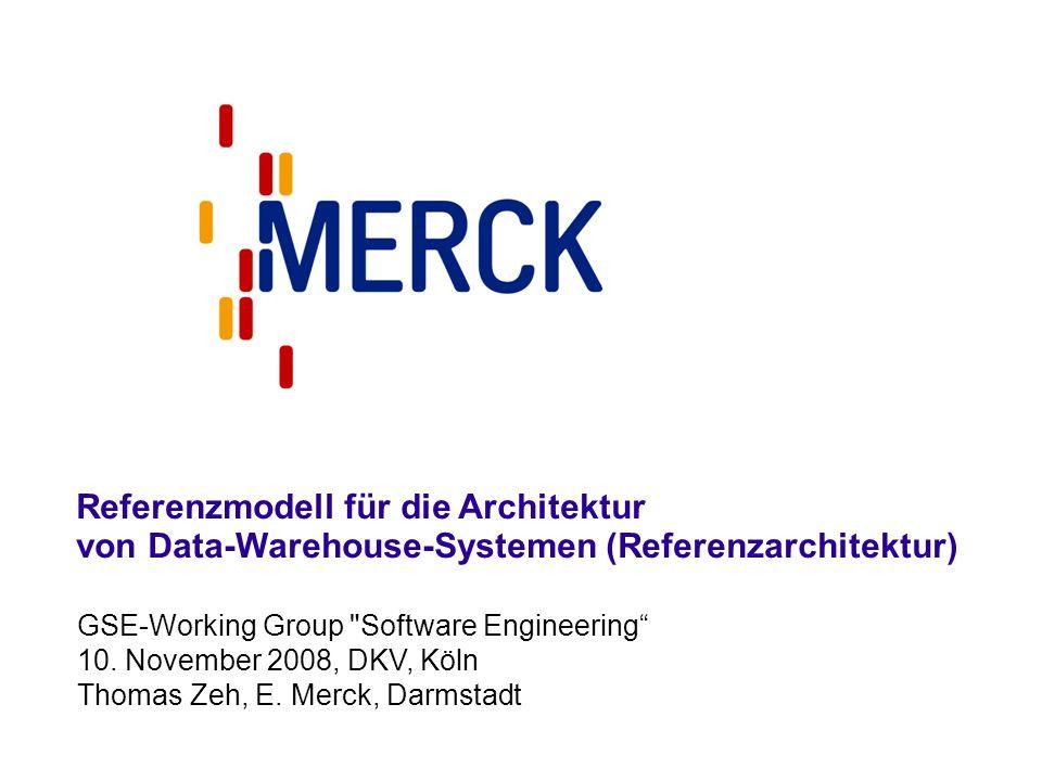GSE-Working Group Software Engineering 10.November 2008, DKV, Köln Thomas Zeh, E.