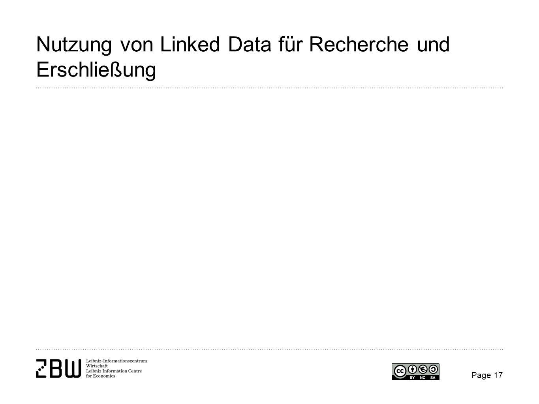 Nutzung von Linked Data für Recherche und Erschließung Page 17