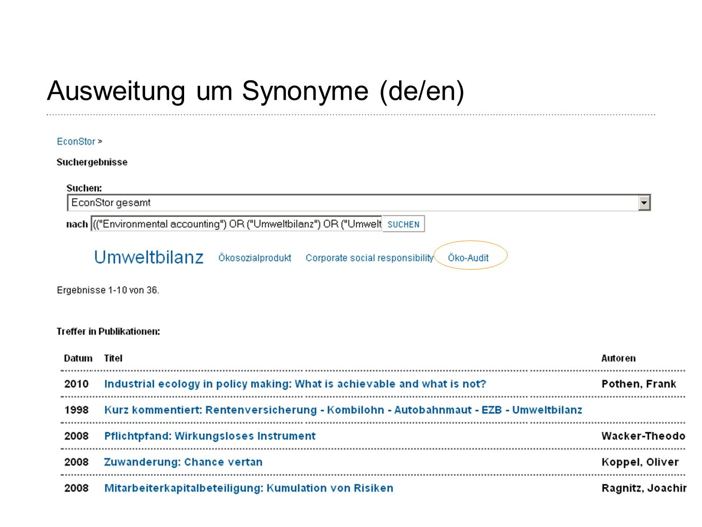 Page 22 Ausweitung um Synonyme (de/en)