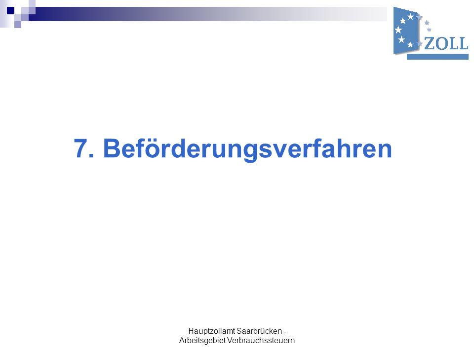 7. Beförderungsverfahren