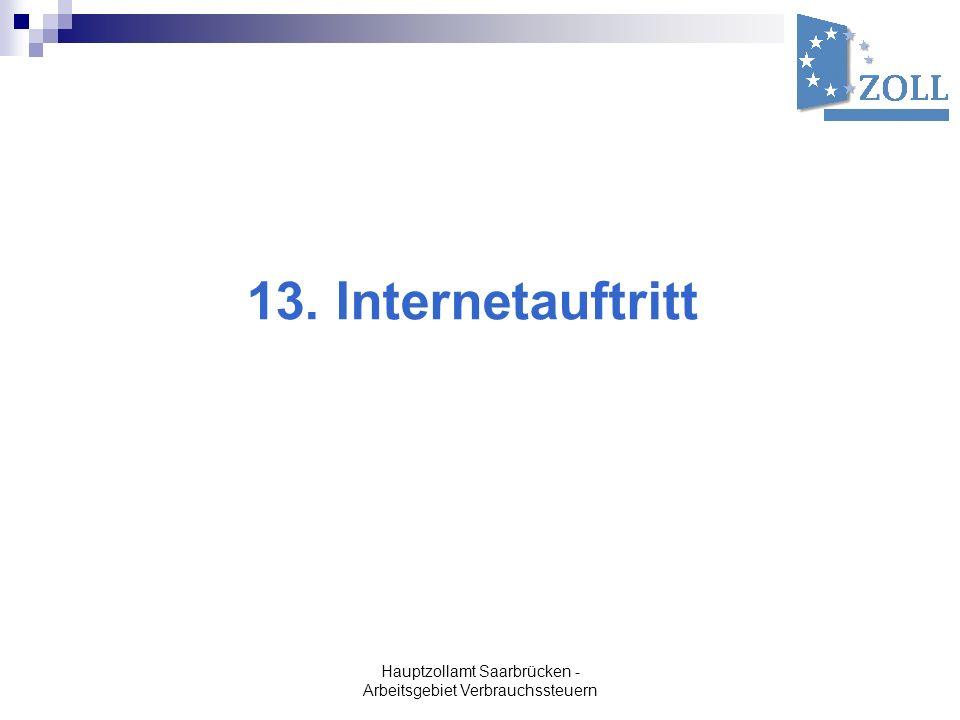 13. Internetauftritt