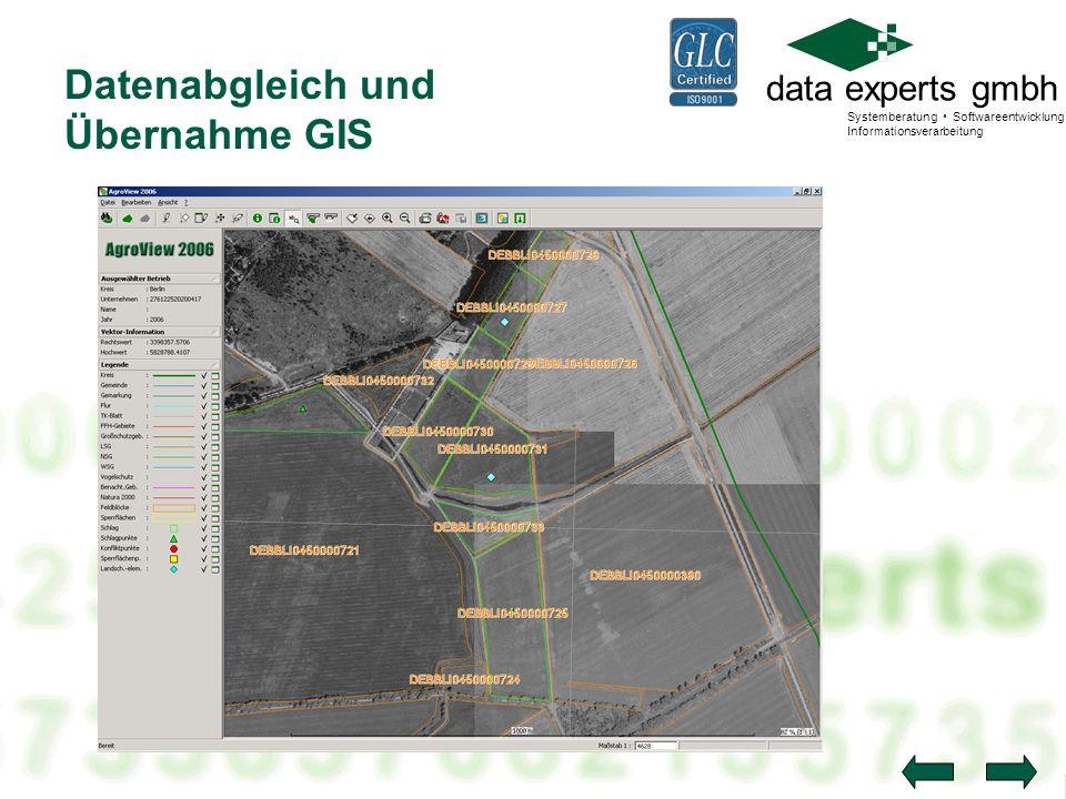 data experts gmbh Systemberatung Softwareentwicklung Informationsverarbeitung Datenabgleich und Übernahme GIS