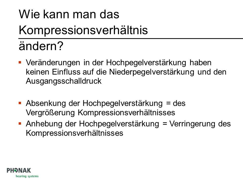 Wie kann man das Kompressionsverhältnis ändern.