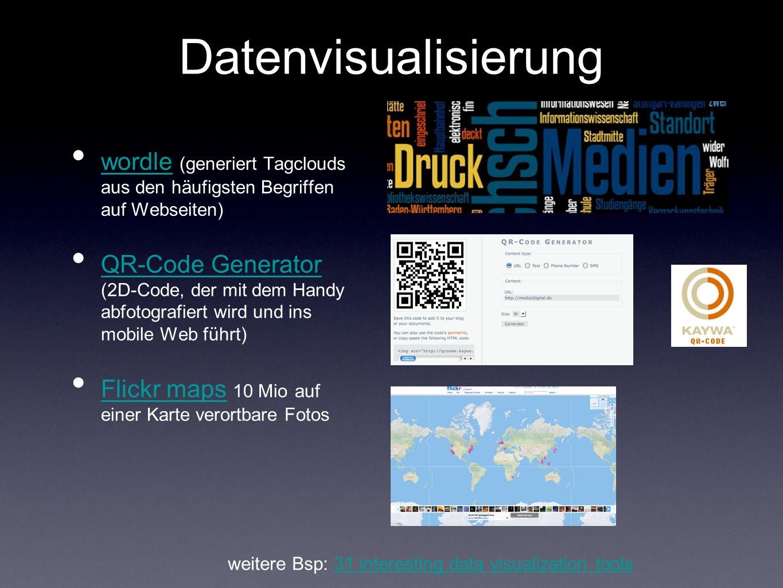 mashups /crime data/ database journalism aus: http://flowingdata.com/2009/06/23/20-visualizations-to-understand- crime/http://flowingdata.com/2009/06/23/20-visualizations-to-understand- crime/ Text weitere Beispiele für Datenbank-Mashups: flowingdata.comflowingdata.com