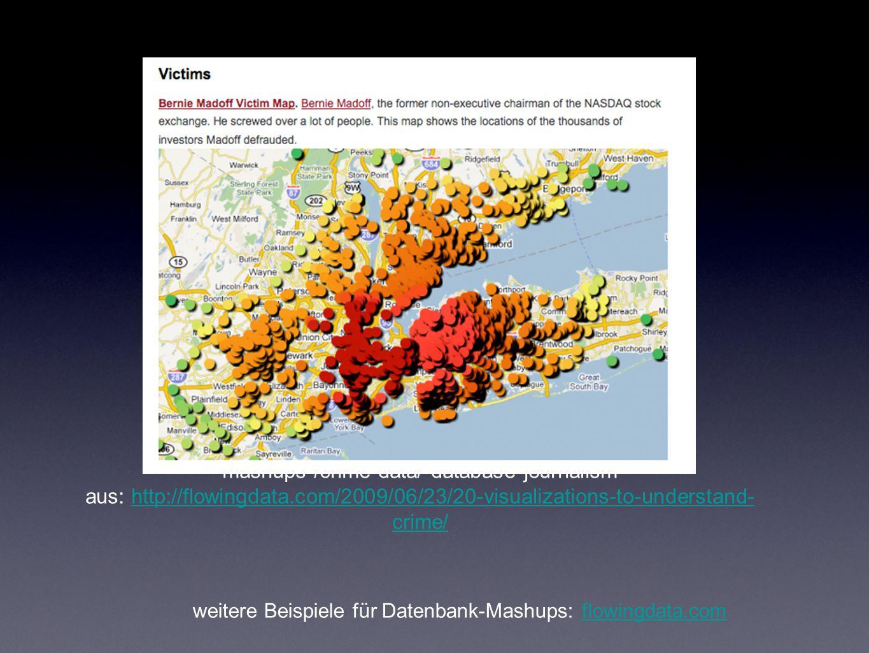 Geotagging Wohnungskarte.de Wohnungssuche mit Google Maps Mashup Wohnungskarte.de Flickr maps 10 Mio auf einer Karte verortbare Fotos Flickr maps UShovel Kombination von Twitter Geotagging und Hashtags für Jobangebote (Schneeschaufeln) UShovel