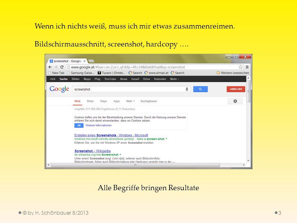 3 Wenn ich nichts weiß, muss ich mir etwas zusammenreimen. Bildschirmausschnitt, screenshot, hardcopy …. Alle Begriffe bringen Resultate