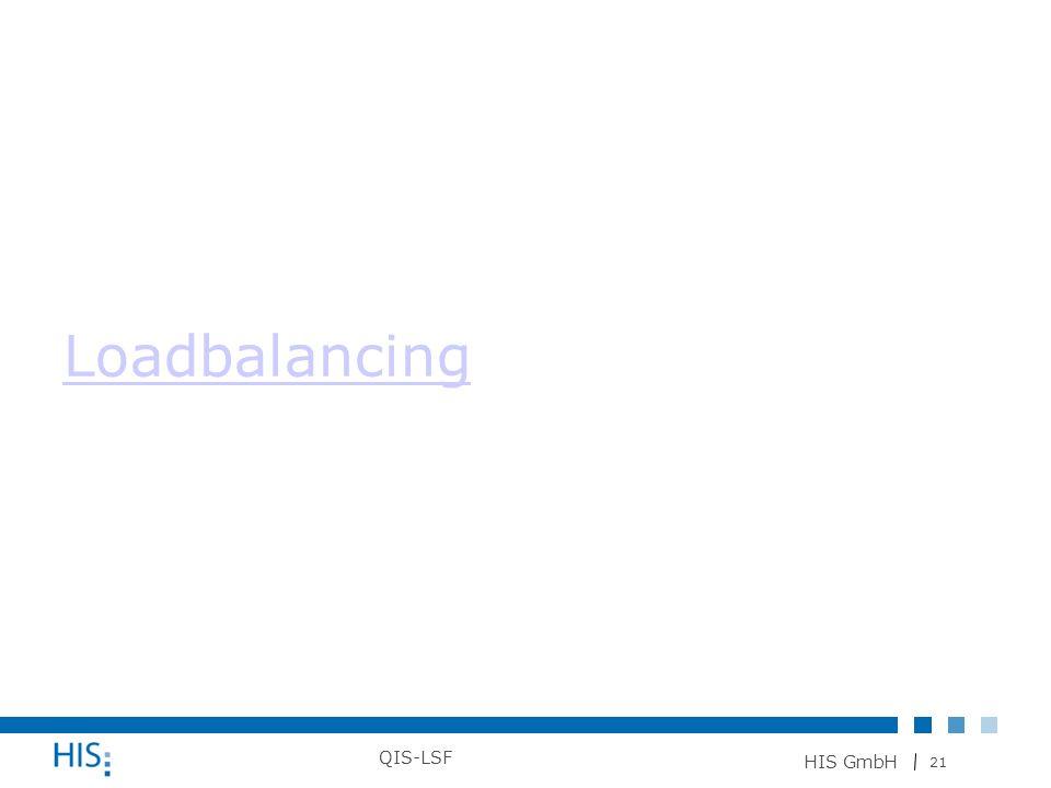 21 HIS GmbH QIS-LSF Loadbalancing