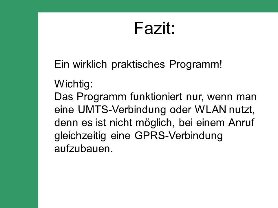 Fazit: Ein wirklich praktisches Programm.