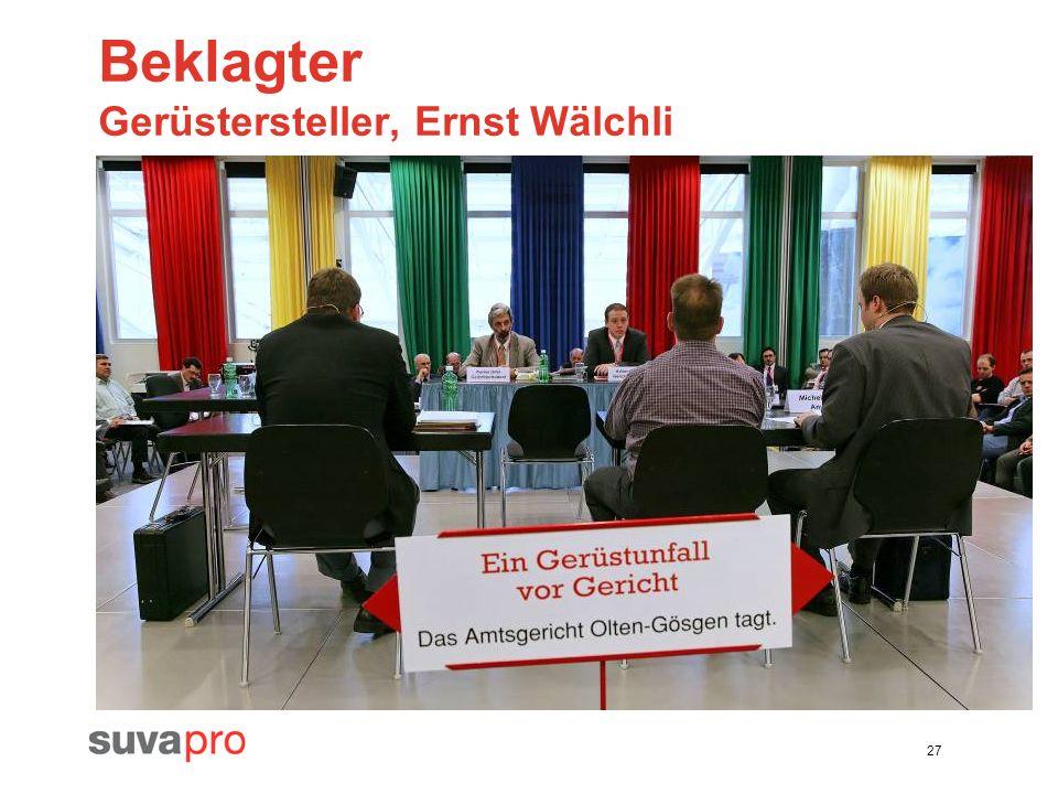 27 Beklagter Gerüstersteller, Ernst Wälchli