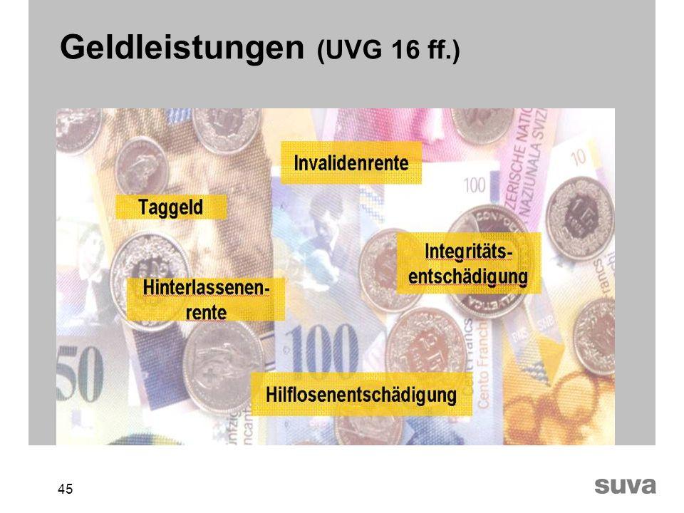 45 Geldleistungen (UVG 16 ff.)