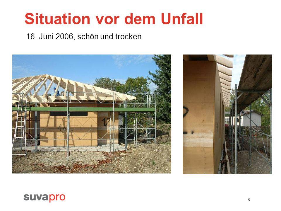 6 Situation vor dem Unfall 16. Juni 2006, schön und trocken