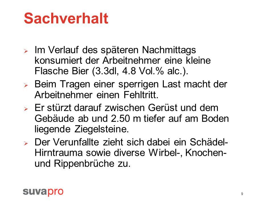 40 Gerüstunfall vor Gericht - Regress der Unfallversicherung Olten, 24.