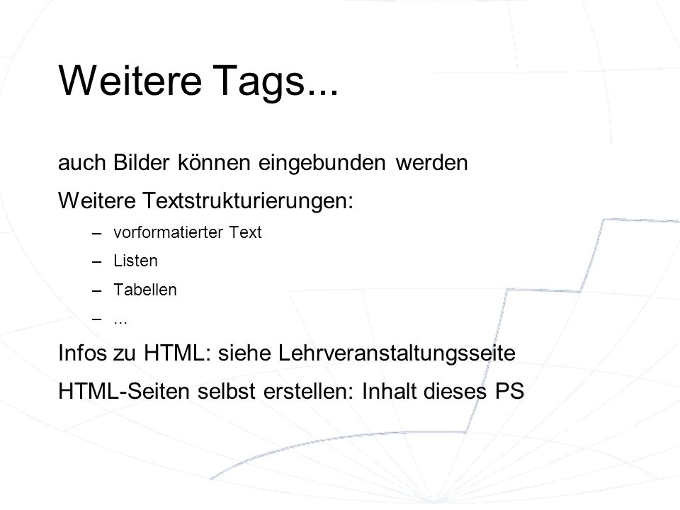 Weitere Tags...