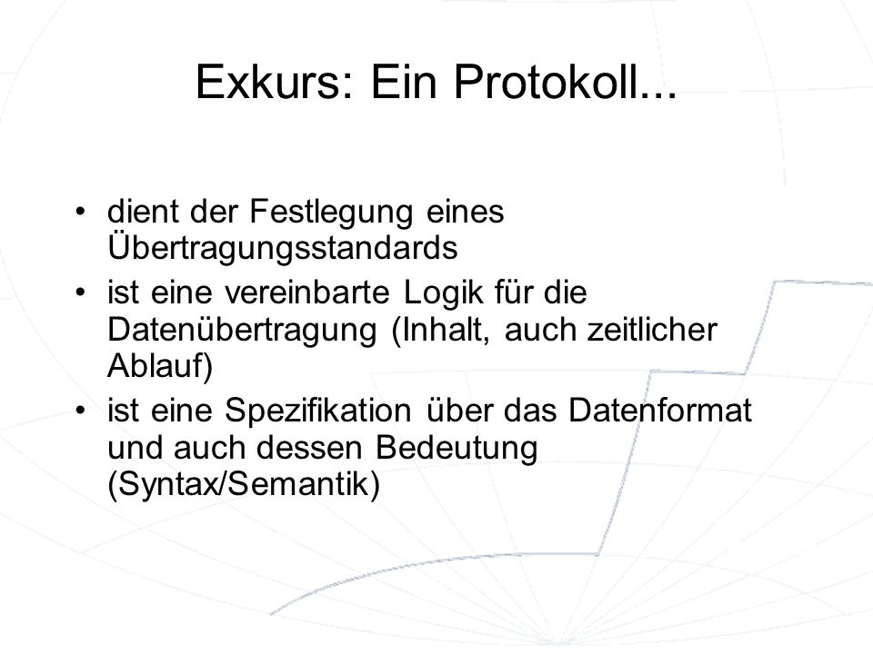 Organisation des Internet II Internet Engineering Task Force (IETF) zuständig für Funktion des Internets und Architekturfragen Internet Research Task Force (IRTF) zuständig für Forschung und Entwicklung neuer Technologien The Internet Corporation for Assigned Names and Numbers (ICANN) verwaltet IP-Adressen und Domains W3C, ISO,...