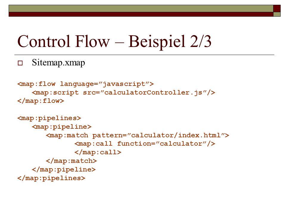 Control Flow – Beispiel 2/3 Sitemap.xmap