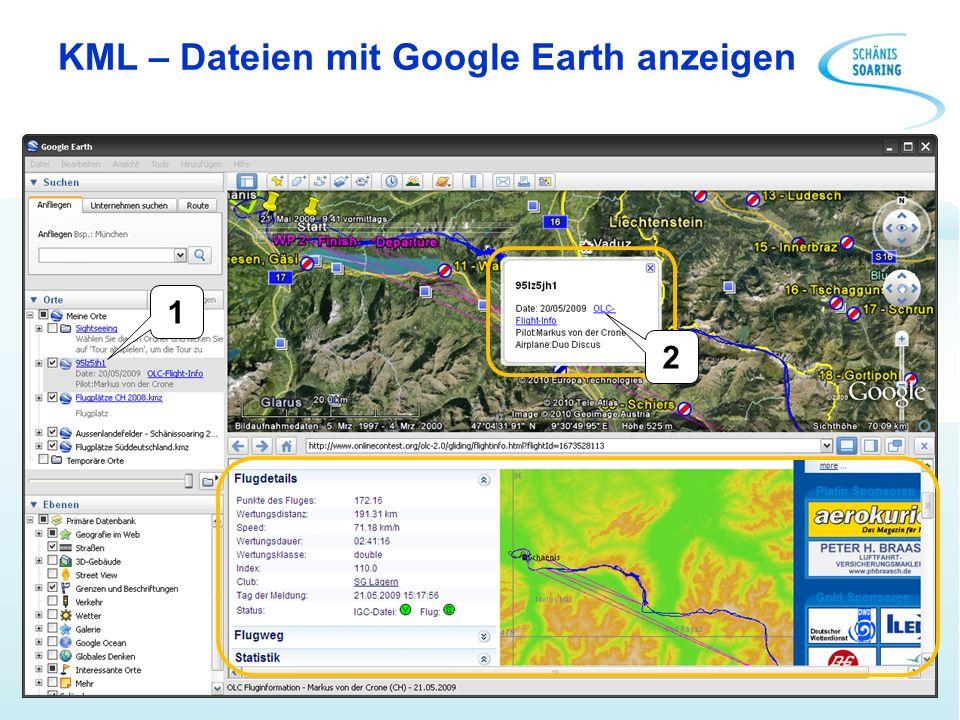 KML – Dateien mit Google Earth anzeigen 1 2
