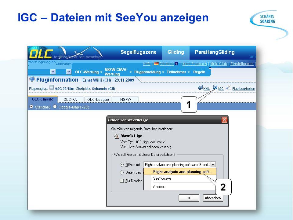IGC – Dateien mit SeeYou anzeigen 1 2