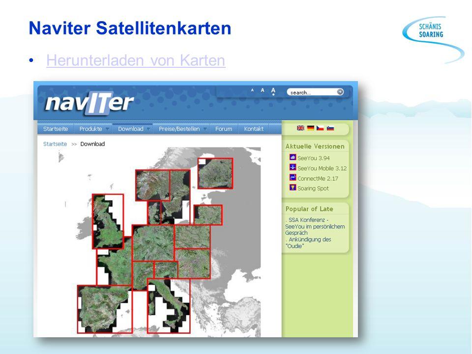 Naviter Satellitenkarten Herunterladen von Karten